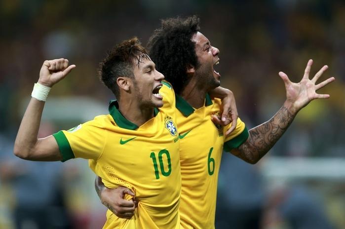 Neymar e Marcelo são companheiros na seleção brasileira (Crédito: Getty)