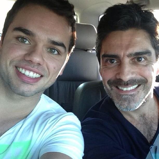 Junno Andrade e seu filho Vinicius