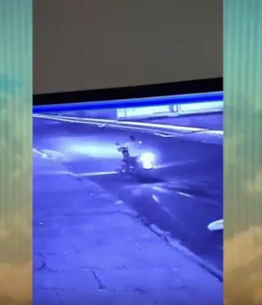 Câmeras de segurança flagraram ação de bandidos (Crédito: Reprodução/TV MN)