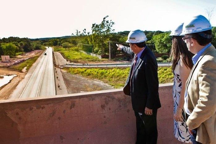 Governador visitas obras do rodoanel (Crédito: Francisco Gilásio)