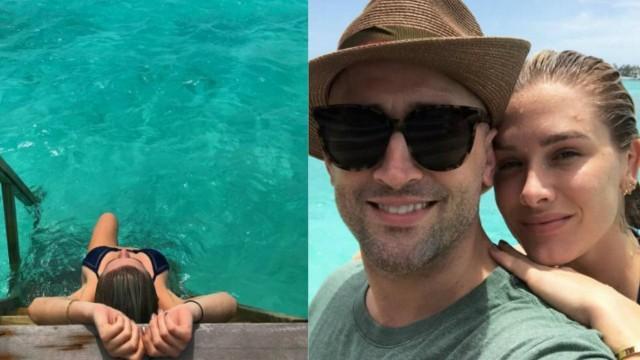 Fiorella, Paulo Gustavo e Marquezine passam férias nas Maldivas
