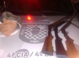 Polícia prende três homens e apreende armas de fogo em Fronteiras