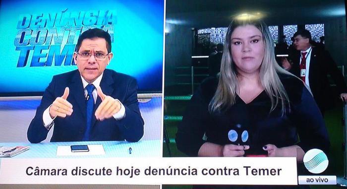 Amadeu Campos e Samantha Cavalca (Crédito: Reprodução/TV Meio Norte)