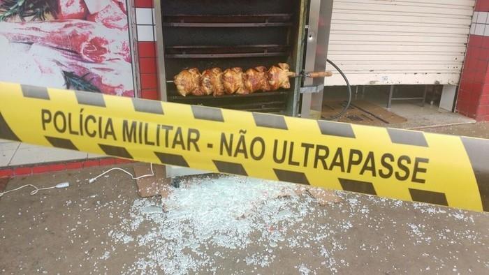 Cliente atirou contra açougue e matou uma pessoa (Crédito: onório Silva/RPC Maringá)