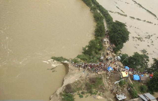 Locais atingidos pelas inudações (Crédito:  National Disaster Response Force via AP)