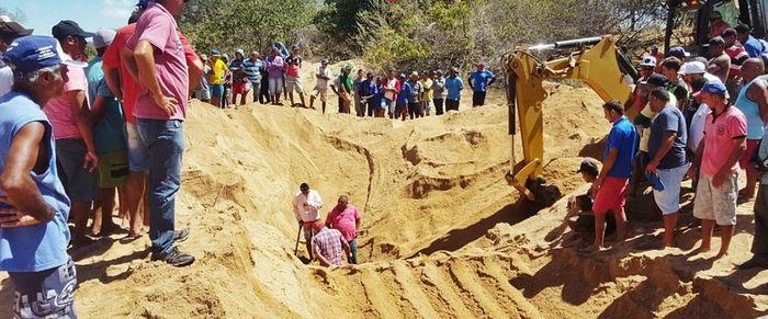 Homem morre soterrado  em escavação de poço no Piauí (Crédito: cidadesnanet)
