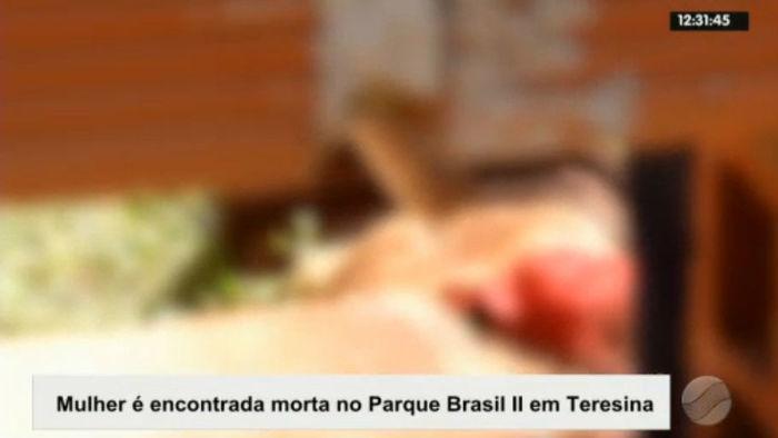 Corpo de  Dalciane das Chagas (Crédito: Rede Meio Norte)