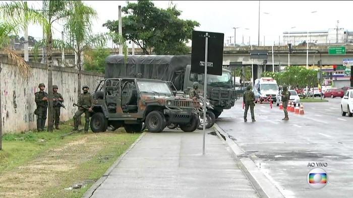 Operação no Rio de Janeiro (Crédito: Reprodução / TV Globo)