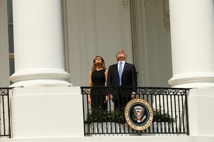Melania e Donald Trump (Crédito: Reuters)
