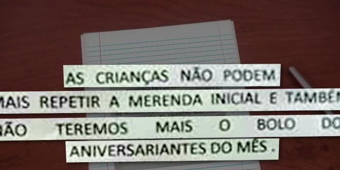 Alunos estão proibidos de repetir merenda em escolas de São Paulo
