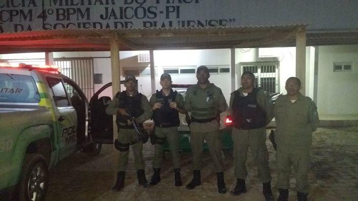 Polícia Militar da cidade de Jaicós (Crédito: Divulgação/Polícia Militar)