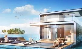 Casas flutuantes serão criadas com parte submersa e vista incrível