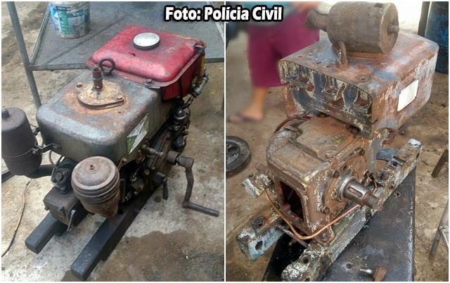 Homem é preso e motores agrícolas furtados em Cocal