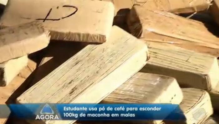 Droga apreendida com 100 kg de maconha (Crédito: Rede Meio Norte)