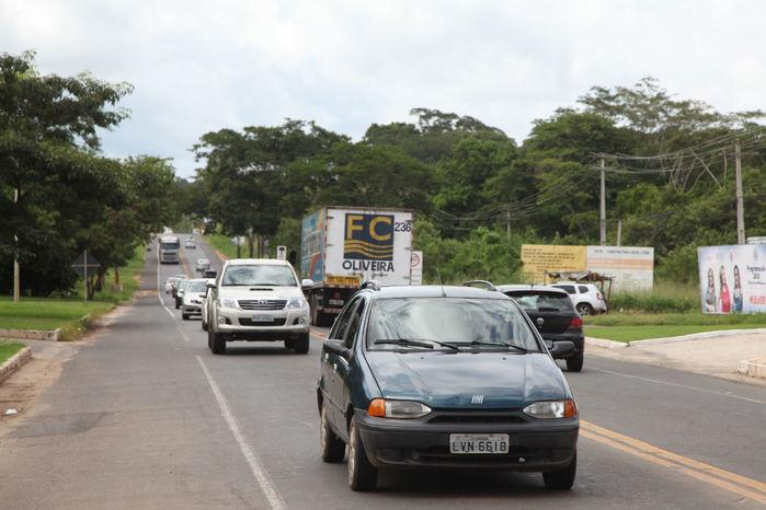 BR-343 na saída de Teresina (Crédito: Efrém Ribeiro/Jornal Meio Norte)
