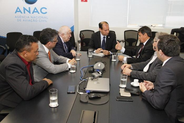 Governador Wellington Dias em reunião na Anac (Crédito: Reprodução)