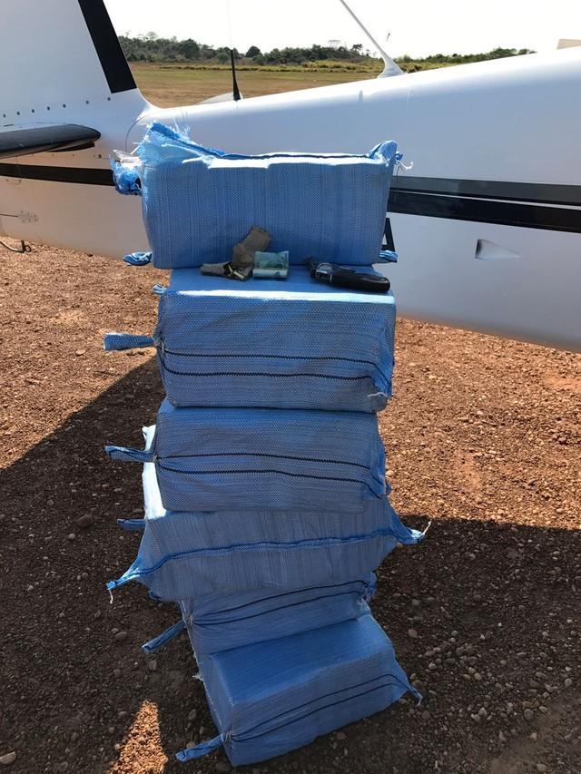 Droga estava em sacos (Crédito: Polícia Federal de MT)