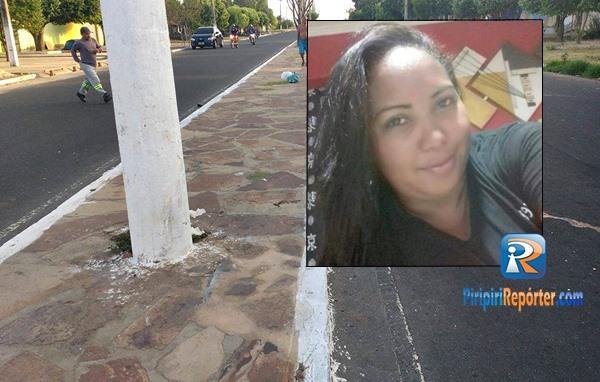Mulher morre após colidir moto em poste na cidade de Piripiri (Crédito: Reprodução)