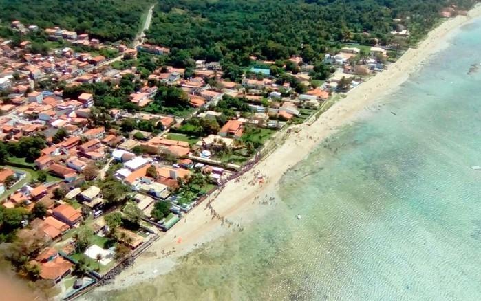 Acidente ocorreu em Mar Grande, a cerca de 200 metros da costa (Crédito: TV Bahia)