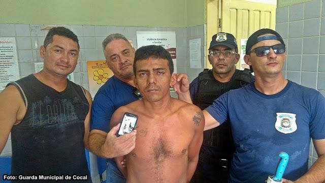 Guarda Municipal prende ex-presidiário acusado de assaltar estudante em Cocal