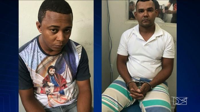Suspeitos de integrar um grupo de extermínio (Crédito: TV Mirante)