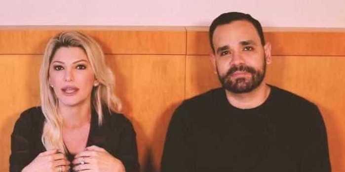 """Fontenelle pede perdão a Flávia Alessandra: """"Só fiz amar o seu ex"""""""