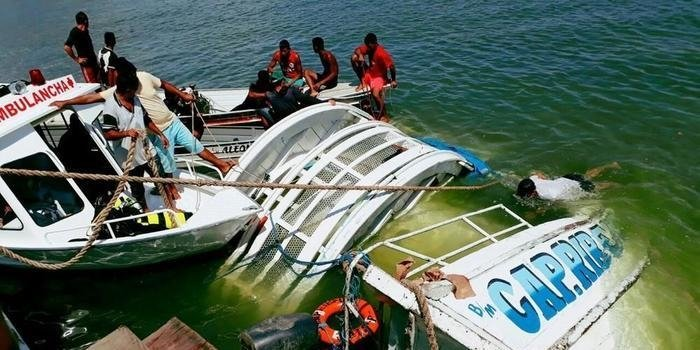 Número de mortos sobe para 21 em naufrágio de navio no Pará