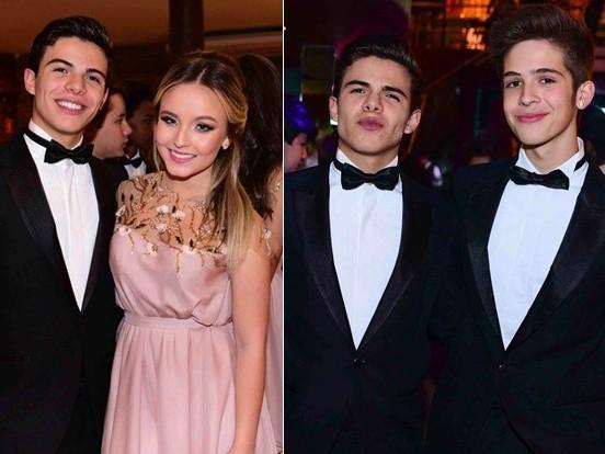 Larissa Manoela reencontra os dois ex-namorados em festa