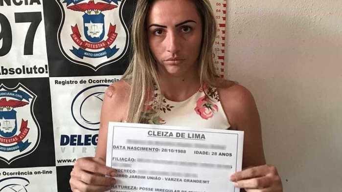 'Bibi de VG' é presa suspeita de cometer crimes a mando do marido (Crédito: Polícia Civil)