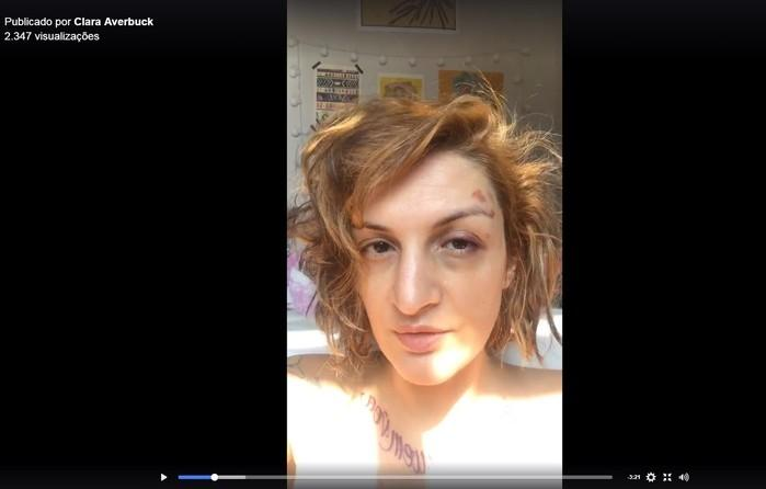 Clara Averbuck divulgou vídeo