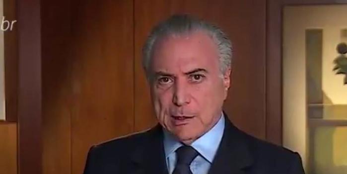 Michel Temer diz em vídeo que tem gente que 'quer parar o Brasil'