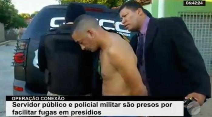 Josimar sendo preso (Crédito: Reprodução/TV Meio Norte)