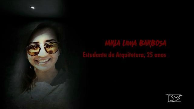 Reportagem traz o caso de Iarla Barbosa, assassinada pelo namorado (Crédito: TV Mirante)