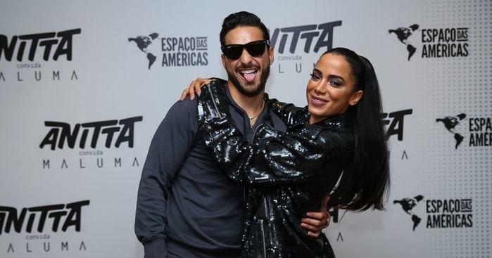 Maluma e Anitta (Crédito: Reprodução/internet)
