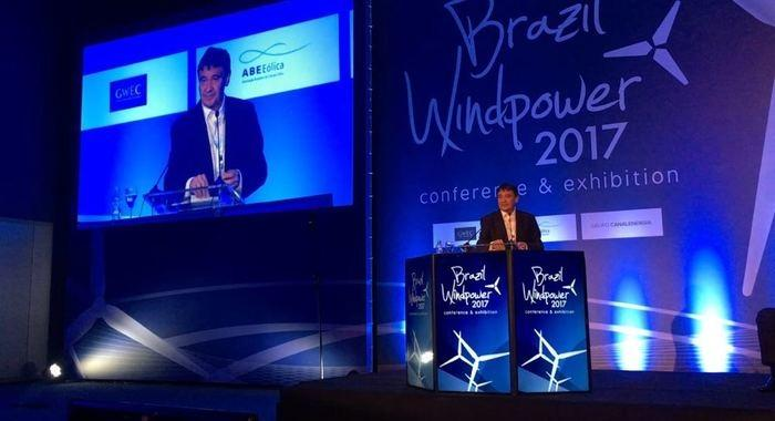 Wellington participa da abertura do Brazil WindPower  (Crédito: Surpi)