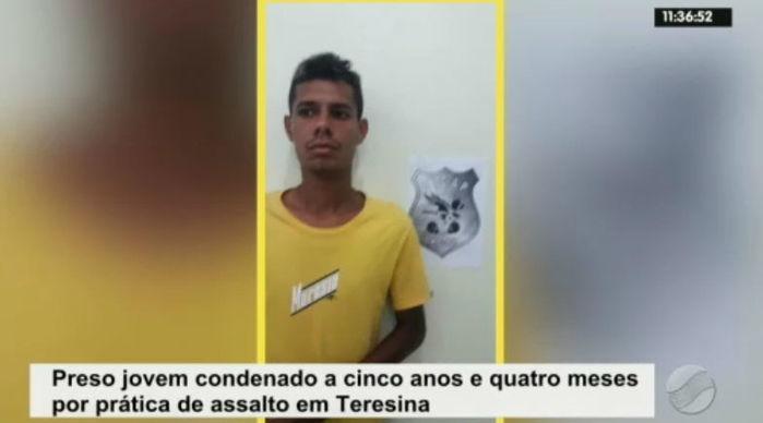 Eduardo Quaresma, condenado a cinco anos e quatro meses pela prática de assalto (Crédito: Rede Meio Norte)