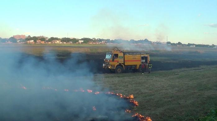 Incêndio no aeroporto de Teresina (Crédito: Reprodução)
