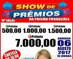Show de Prêmios da Prisma Produções em Buriti dos Lopes