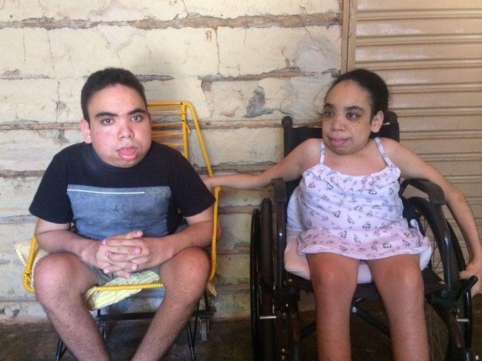 População faz campanha para ajudar irmãos com síndrome rara  (Crédito: Reprodução)