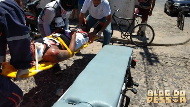 Homem fica gravemente ferido após acidente em Parnaíba