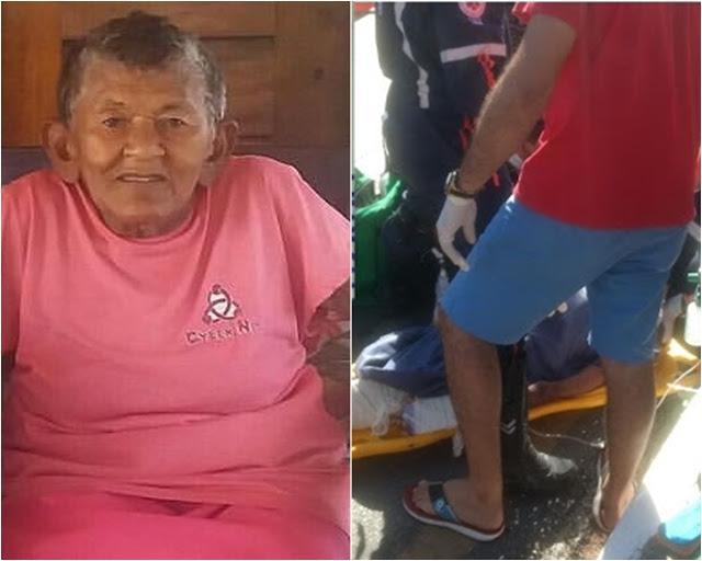 Morre no hospital idosa atropelada por moto em Parnaíba
