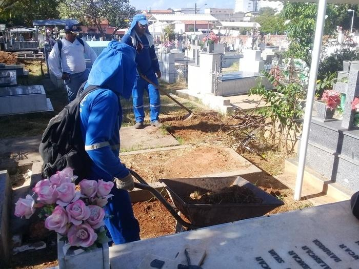 Limpeza dos cemitérios da capital será intensificada  (Crédito: Reprodução)