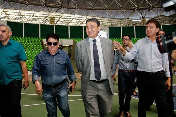 Governador Wellington Dias visita o Verdão (Crédito: João Allbert)