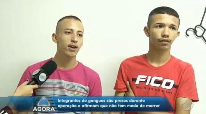 Felipe Gabriel Santos Rêgo e Lucas Matheus Alves da Silva (Crédito: Rede Meio Norte)