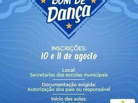 Projeto Bom de Dança realiza inscrições nos dias 10 e 11