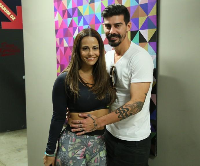 Viviane Araújo e Radamés Martins