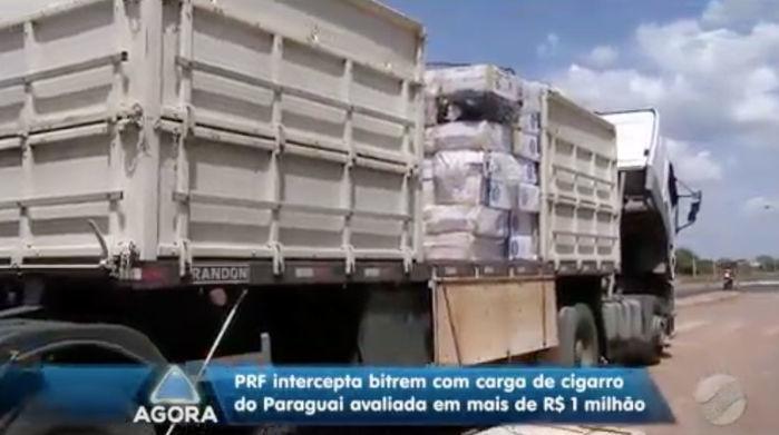 PRF apreende carga de cigarros avaliada em R$ 1 milhão