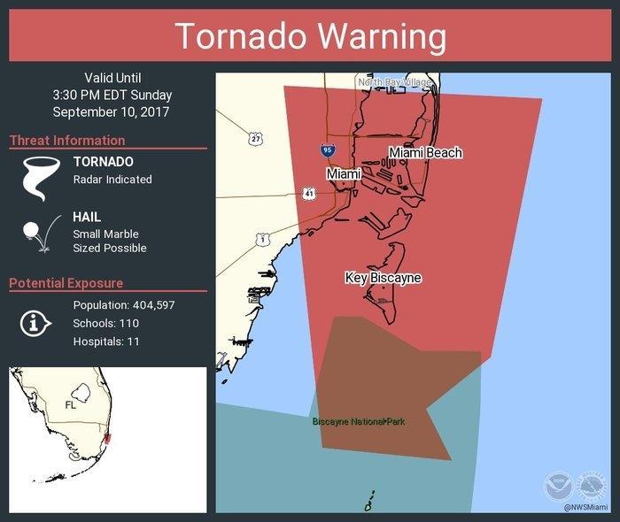 Alerta de tornado (Crédito: Reprodução)
