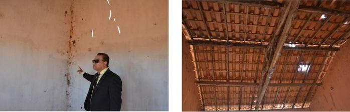 Promotor faz vistoria no matadouro público do município de Avelino Lopes (Crédito: MP-PI)