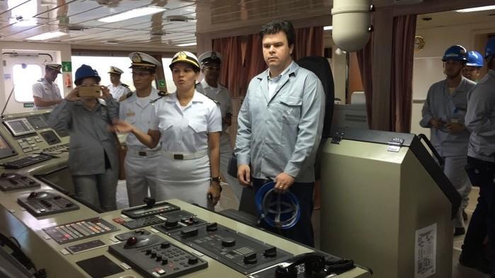 Fernando Coelho Filho durante visita em Pernambuco (Crédito: Mônica Silveira/TV Globo)